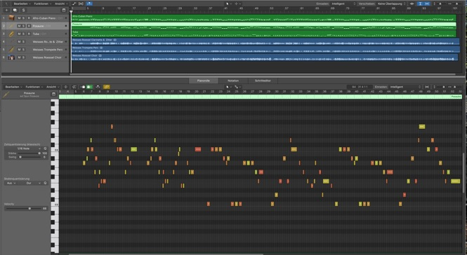 Logic Pro Pianoroll Fenster